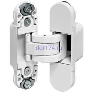Петля ECLIPSE 2.0 (E30200.03.91 (белый) AGB (АГБ)) (4 накладки в комплекте)