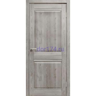 Межкомнатная дверь Омега, Дуб дымчатый (FORET-LIGHT, экошпон - лайт)