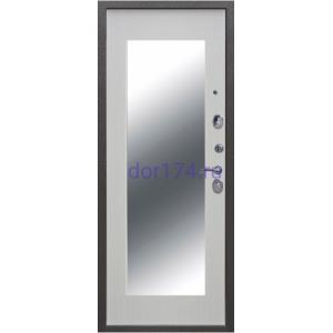 Троя Серебро 10 см. Зеркало MAXI, Белый ясень