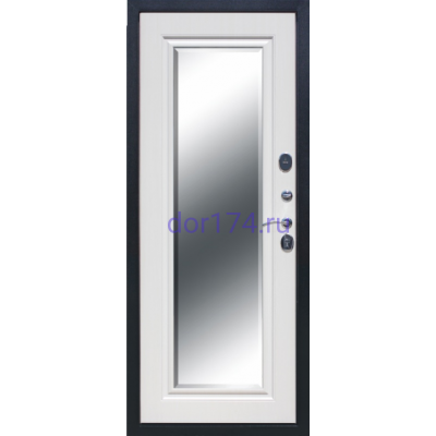 Гарда (Garda) 7,5 см. Серебро, Зеркало Фацет, Белый ясень