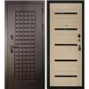 Дверь входная металлическая S100 Квадро, Бьянка, Акация светлая ч/с