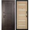Дверь входная металлическая S100 Квадро, Бьянка, Акация светлая б/с